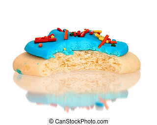 Blue Iced Cookie