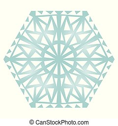 Blue Icon snowflake on a white background. Vector illustration. EPS 10