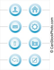 Blue  icons buttons