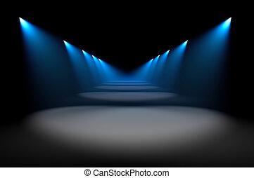 Blue spot light illumination background