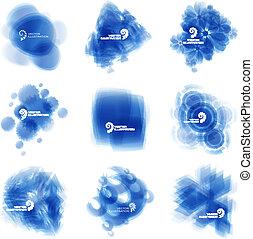 Blue illustration