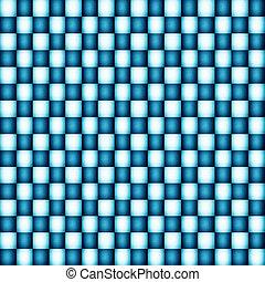 Blue Illustration of grunge checker