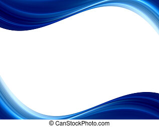 blue impact waves - blue waves on white background. Abstract...