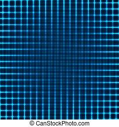 (blue, incandescent, lignes, version), fond