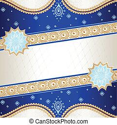 Blue Indian mehndi inspired banner