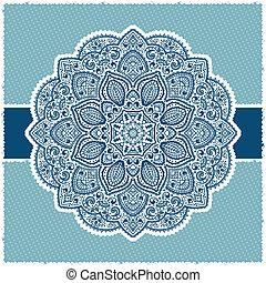 Blue Indian ornamental frame
