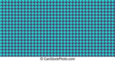Blue Indigo Seamless Houndstooth Pattern Background. Traditional Arab Texture. Fabric Textile Material.