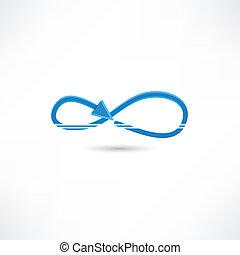blue infinite icon