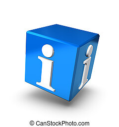 Blue Info Box Forward - A blue information box floating on a...