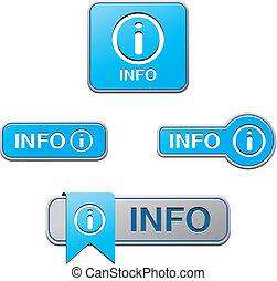 blue info buttons