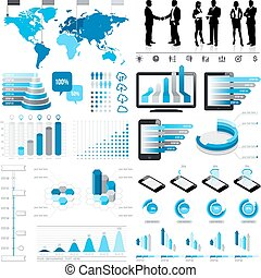 Blue Infographics Set 3