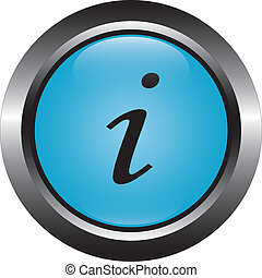 blue information vector button