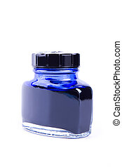 Blue ink in the can