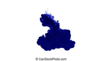 blue ink on white background. 3d render, with luma matte. 13