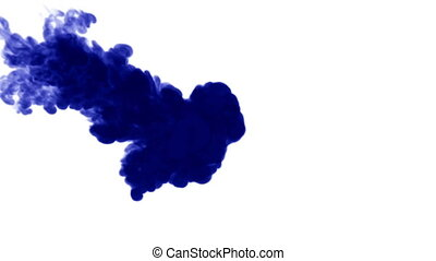 blue ink on white background. 3d render, with luma matte. 5