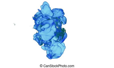 blue Ink or smoke for effect and compositing. VFX Ink clouds...