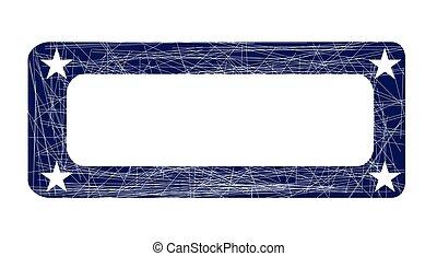 Blue Ink Stamp