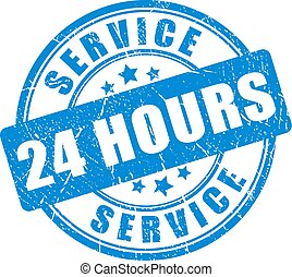 Blue ink stamp service 24 hour