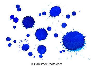 Blue inkblots