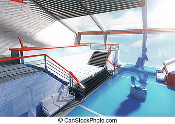 Blue interior side