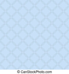 Blue Interlaced Circles Textured Fabric Background