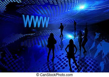 Blue internet background