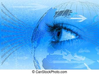 Blue internet concept background