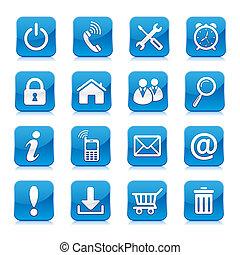 internet icon - blue internet icon collection