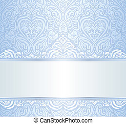 blue invitation background
