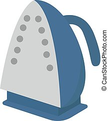 Blue iron, illustration, vector on white background.