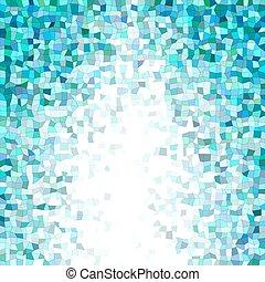 Blue irregular rectangle mosaic vector background