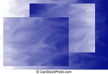 Blue-ish Rectangles - A background image with overlapping...