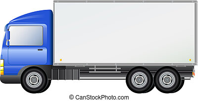blue isolated shipping truck
