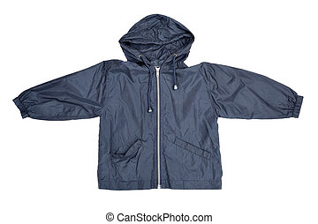 Blue jacket - Children's wear - blue jacket isolated over...