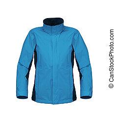 blue jacket isolated on white background