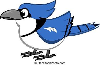 Blue Jay Cartoon - Bird cartoon of Blue Jay