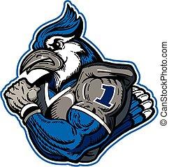 blue jay football player in uniform