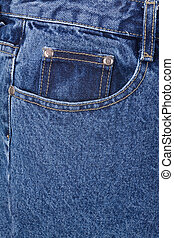 Blue jean - a blue jean close up shot