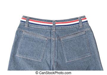 Blue jean in back side view