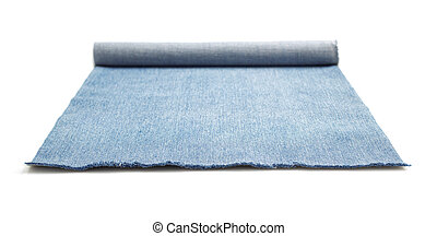 blue jean isolated on white