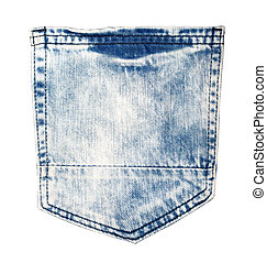 blue jeans back side pocket,