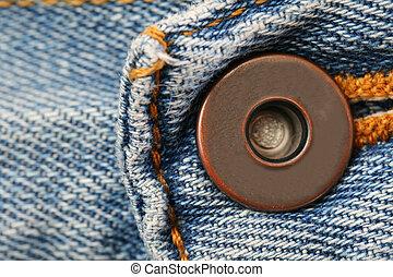 Blue Jeans Button
