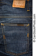 Blue jeans close-up for background