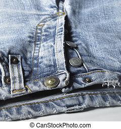 blue jeans detail