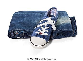 blue-jeans, espadrilles