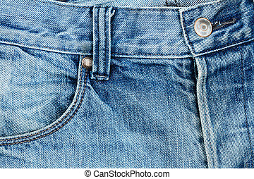 Blue jeans fabric with pocket - Blue jeans fabric with...