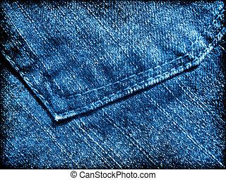 Blue jeans grunge texture