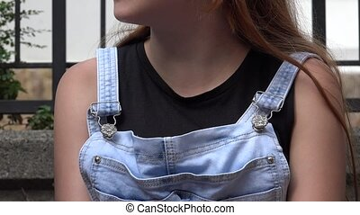Blue Jeans Overall With Suspenders