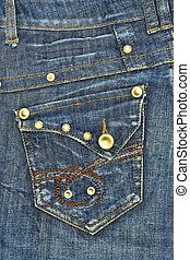 Blue jeans pocket