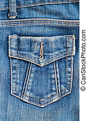 Blue jeans pocket.